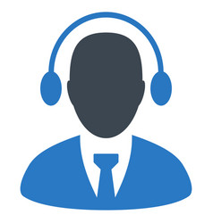 call center agent flat icon vector image