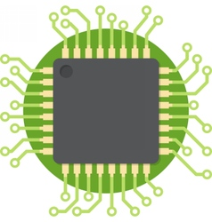 Central processing unit vector image