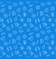 chemistry blue concept seamless pattern vector image