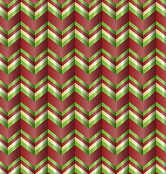 Chevron holiday ribbon paper pattern vector image