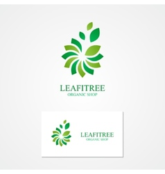 Combination of a flower and leaf with business vector image