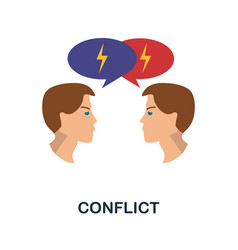Conflict icon simple element from personality vector
