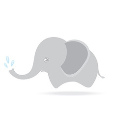cute elephant spraying water cartoon drawing vector image