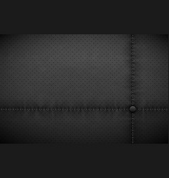 Dark gray perforated leather texture vector