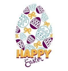 Egg and ribbon vector image