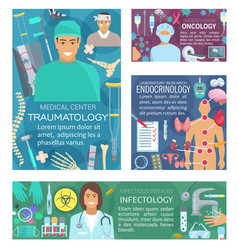 Endocrinology oncology and trauma clinic doctors vector