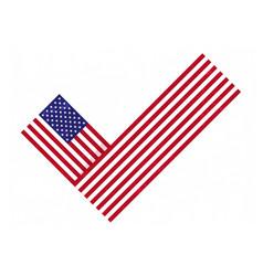 Flag check mark vote 2020 in usa design american vector