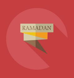 Flat modern design with shadow icons ramadan vector