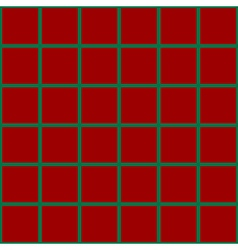 Green Grid Chess Board Red Background vector