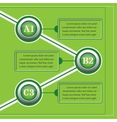 Green infographics banners - design templates vector
