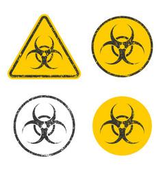 grunge stamp biohazard warning safety icon shape s vector image