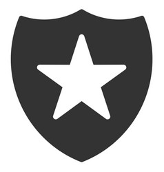 Guard shield flat icon vector