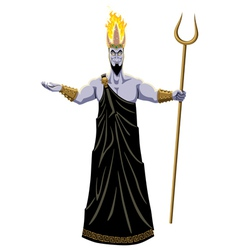 Hades on White vector image