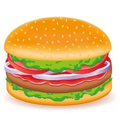 Hamburgers isolated on white background vector