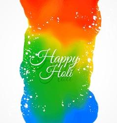 happy holi colors vector image