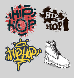 Hip hop rap music related vector