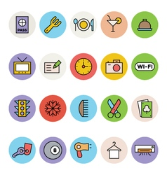 Hotel and Restaurant Icons 1 vector image