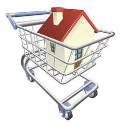 house shopping cart concept vector image