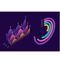 Infographic isometric elements vector