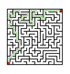Labyrinth shape design element vector