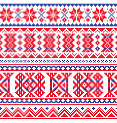Lapland sami people seamless pattern vector