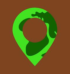 Location on globe pin on globe simple black icon vector