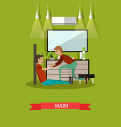 maim concept in flat style vector image