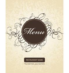 menu background vector image