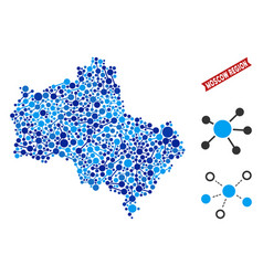 Moscow oblast map links mosaic vector