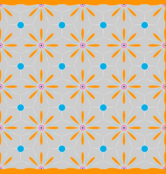 multicolored floral ethnic geometric patterns vector image