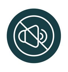 mute volume audio sound block style icon vector image