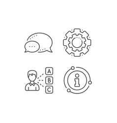 opinion line icon select answer sign vector image