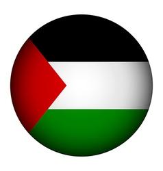 Palestine flag button vector image