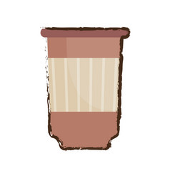Paper cup coffee sketch vector