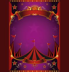 Purple circus poster vector