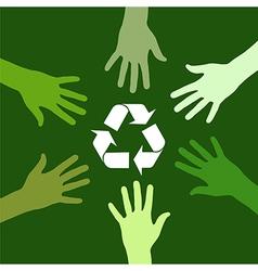 Recycling green team vector
