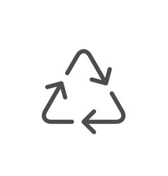 recycling line icon vector image