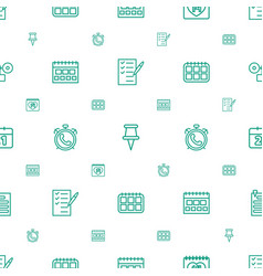 Reminder icons pattern seamless white background vector
