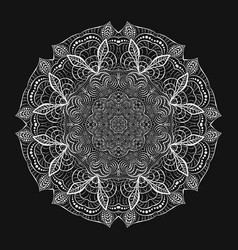 round white crocheted lace doily decorative vector image