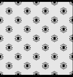 seamless open eye pattern vector image