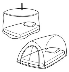 set of mosquito net vector image