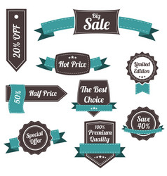 set of retro labels and banners vector image