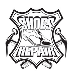 Shoes repair leather vector