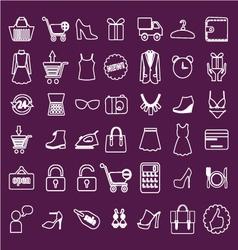 shoping flat Retail vector image