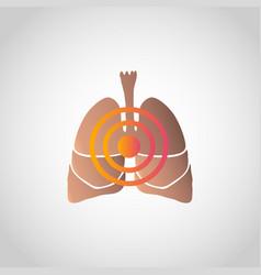 Short breath icon design infographic health vector