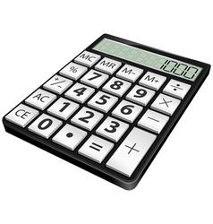 Simple black calculator vector