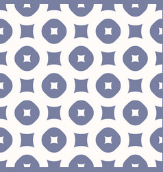 simple seamless pattern with circles and squares vector image