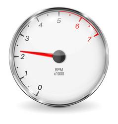 Tachometer 3d vehicle gauge vector