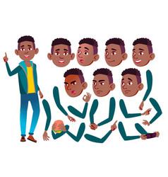teen boy black afro american teenager vector image