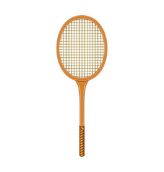 Tennis racket in vintage design vector